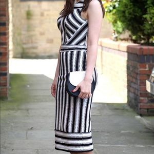 Topshop black and white party dress